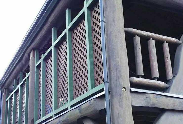 伊賀市 ログハウス塗装工事