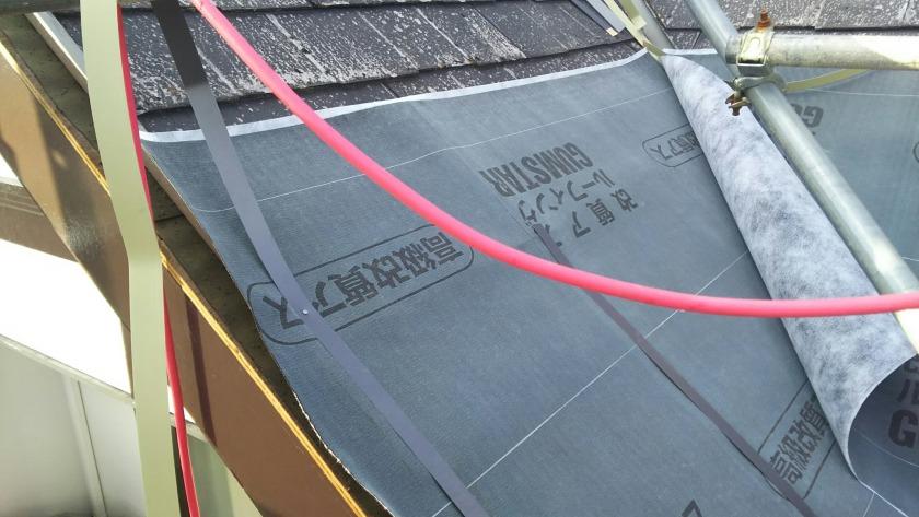 屋根カバー工法作業