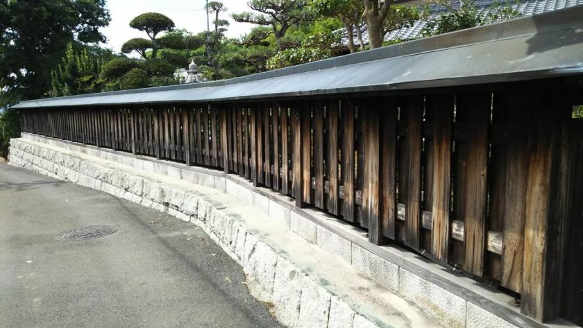 伊賀市 O様邸 木造塀塗装工事
